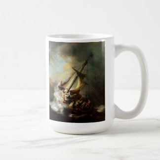 Rembrandt Art Painting Christ in the Storm Coffee Mugs