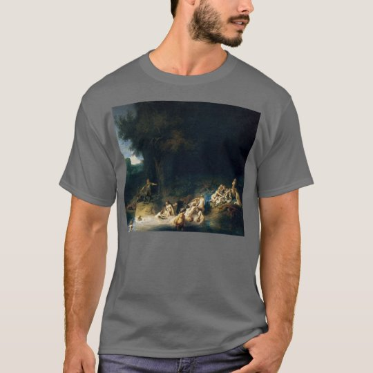 Rembrandt Art Painting Diana Bathing T-Shirt