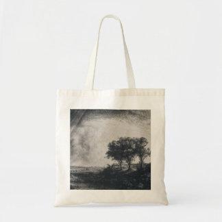 Rembrandt Art Painting Landscape Tote Bag