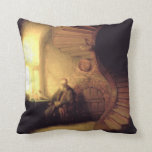 Rembrandt Art Painting Throw Pillow