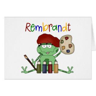Rembrandt Artist Frog Card