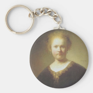 Rembrandt- Bust of a Young Woman Key Chain
