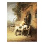 Rembrandt: Charitable Samaritan Postcard