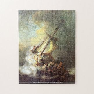 Rembrandt - Christ In Storm On Lake Genezareth puz Puzzle