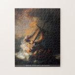 Rembrandt - Cristo en tormenta en el lago Genezare Puzzles Con Fotos