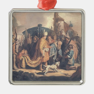 Rembrandt-David Offering Goliath Head to King Saul Ornaments