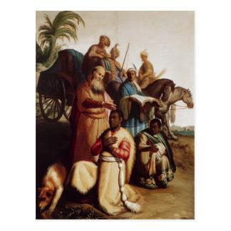 Rembrandt el bautismo del eunuco postal