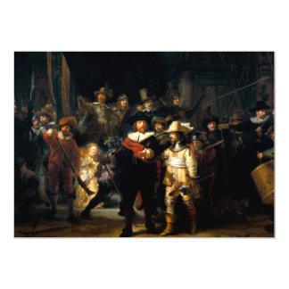 Rembrandt el guardia nocturna invitación 12,7 x 17,8 cm