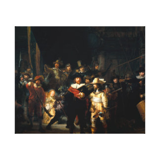 Rembrandt el guardia nocturna impresion de lienzo
