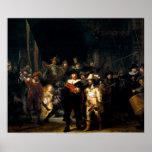 Rembrandt el guardia nocturna póster