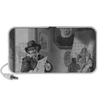 Rembrandt en su estudio laptop altavoces