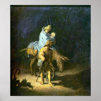 Rembrandt - Flight into Egypt Poster