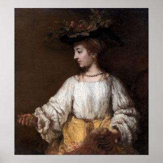 Rembrandt Flora Poster