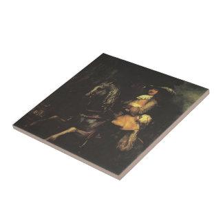 Rembrandt: Frederick Rihel on Horseback Tile