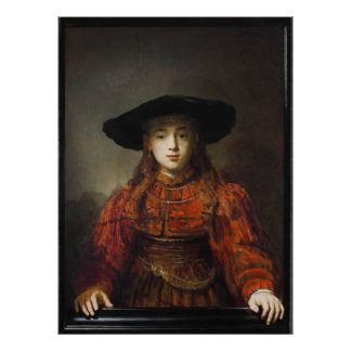 Rembrandt - Girl in a Picture Poster
