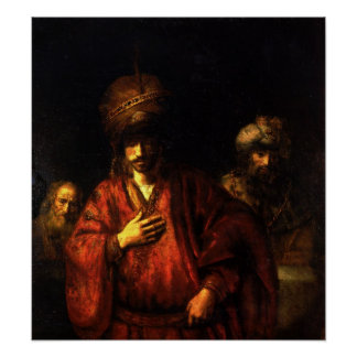Rembrandt - Haman in disgrace Poster