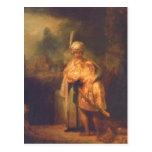 Rembrandt Harmensz. van Rijn Davids Abschied von J Post Cards