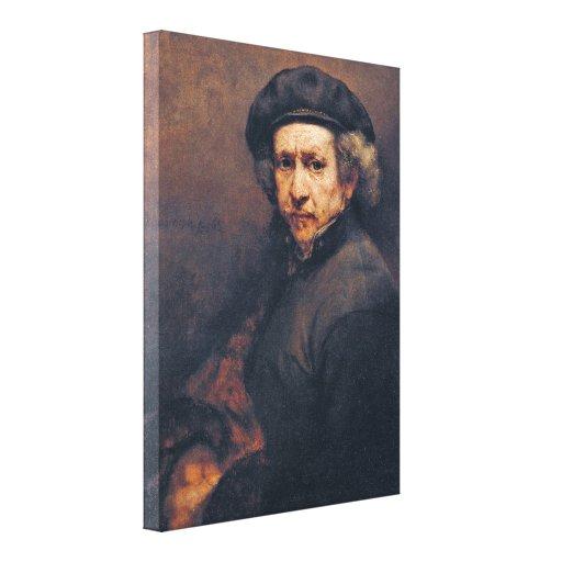Rembrandt Harmenszoon van Rijn - autorretrato Impresión De Lienzo