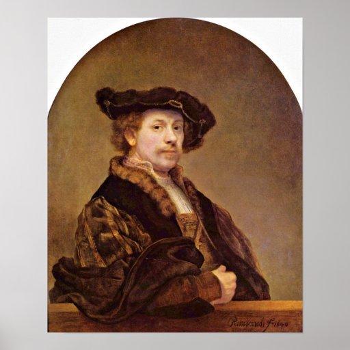 Rembrandt Harmenszoon van Rijn - autorretrato Impresiones