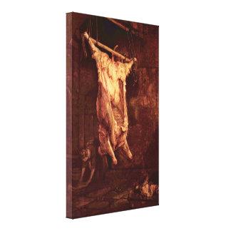 Rembrandt Harmenszoon van Rijn - buey matado Lona Envuelta Para Galerias