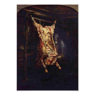 Rembrandt Harmenszoon van Rijn - buey matado Póster