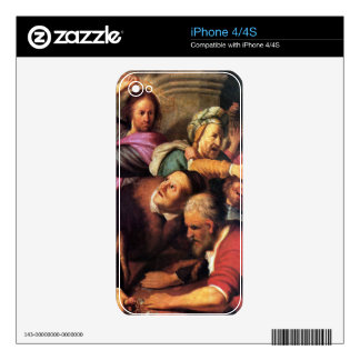 Rembrandt Harmenszoon van Rijn - Christ driving th Decal For The iPhone 4S