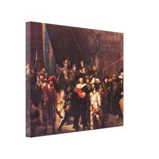 Rembrandt Harmenszoon van Rijn - el guardia noctur Lienzo Envuelto Para Galerias