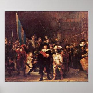 Rembrandt Harmenszoon van Rijn - el guardia noctur Impresiones
