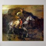 Rembrandt Harmenszoon van Rijn - el jinete polaco Póster