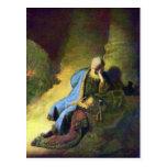 Rembrandt Harmenszoon van Rijn - Jeremiah mourning Post Card