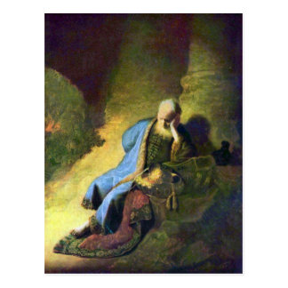 Rembrandt Harmenszoon van Rijn - Jeremiah mourning Postcard