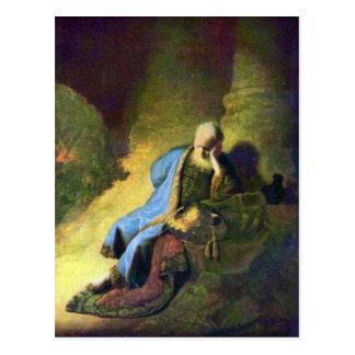 Rembrandt Harmenszoon van Rijn - Jeremiah que está Postal