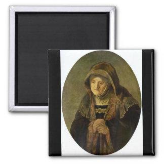 Rembrandt Harmenszoon van Rijn - Portrait of Rembr Refrigerator Magnet