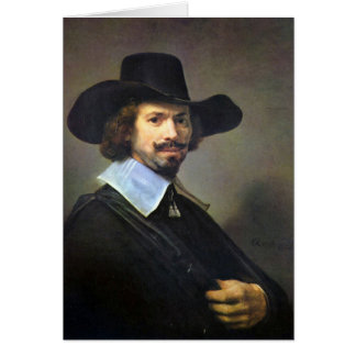 Rembrandt Harmenszoon van Rijn - Portrait of the p Card