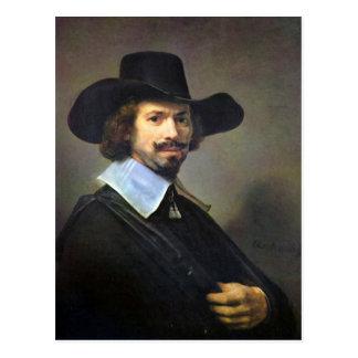 Rembrandt Harmenszoon van Rijn - Portrait of the p Postcard