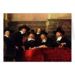 Rembrandt Harmenszoon van Rijn - retrato de la sil Tarjetón