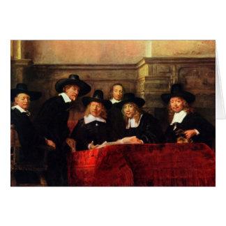 Rembrandt Harmenszoon van Rijn - retrato de la sil Tarjeta Pequeña