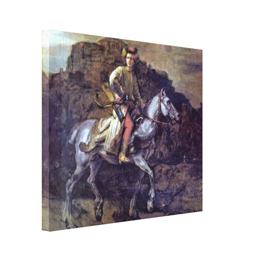 Rembrandt Harmenszoon van Rijn - The Polish Rider Canvas Print