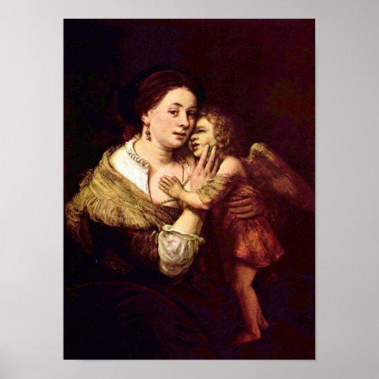 Rembrandt Harmenszoon van Rijn - Venus and Cupid Poster