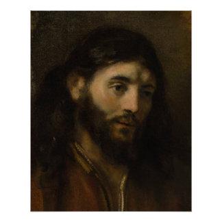 Rembrandt Head of Christ CC0927 Jesus portrait Poster
