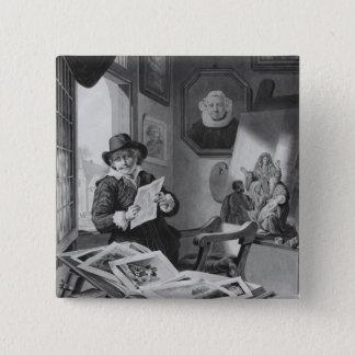Rembrandt in his studio pinback button