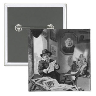 Rembrandt in his studio pinback button