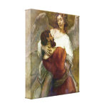 Rembrandt - Jacobs struggle with the angel Stretched Canvas Prints