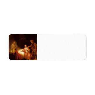 Rembrandt: José acusó por la esposa de Potiphar Etiquetas De Remite