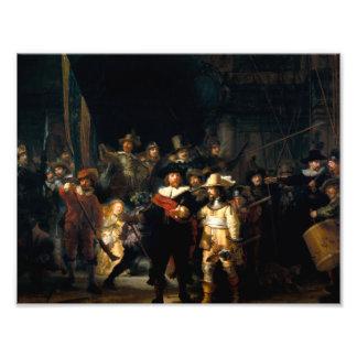 Rembrandt la impresión del guardia nocturna cojinete