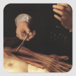Rembrandt la lección de la anatomía del Dr. Pegatina Cuadrada