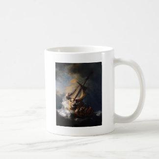 Rembrandt la tormenta en el mar de Galilea Taza De Café