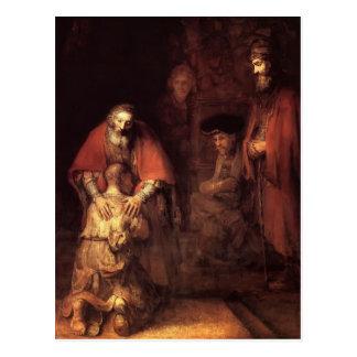 Rembrandt: La vuelta del hijo despilfarrador Postal