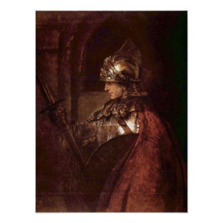Rembrandt - Man with arms (Alexander the Great) Poster
