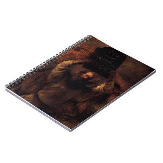 Rembrandt Moses que rompe las tabletas de la ley Libros De Apuntes Con Espiral